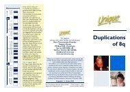 8q duplications QFN - Unique - The Rare Chromosome Disorder ...