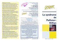 Le syndrome de Pallister-Killian - Unique - The Rare Chromosome ...