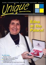 Edna at the Palace! - Unique - The Rare Chromosome Disorder ...