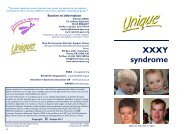 XXXY syndrome - Unique - The Rare Chromosome Disorder ...