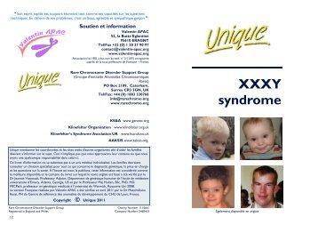 Xxxxy Syndrome Syndrome 49,XXXXY - Un...