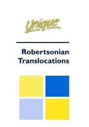 Robertsonian Translocations - Unique - The Rare Chromosome ...