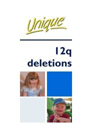 12q deletion - Unique - The Rare Chromosome Disorder Support ...