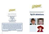 9p24 deletions FTNS.pub - Unique - The Rare Chromosome ...