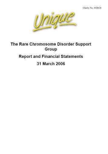 Trustee Annual report - Unique - The Rare Chromosome Disorder ...