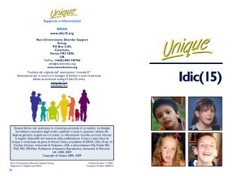 Idic(15) - Unique - The Rare Chromosome Disorder Support Group
