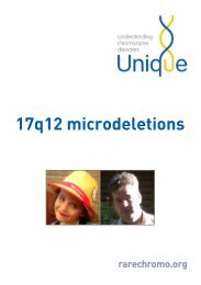 17q12 deletions FTNW - Unique - The Rare Chromosome Disorder ...