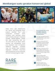 Membangun suatu gerakan konservasi global - RarePlanet
