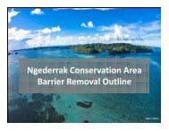 Ngederrak Conservation Area Barrier Removal Outline - RarePlanet