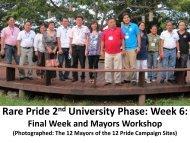 Rare Pride 2nd University Phase: Week 6: - RarePlanet