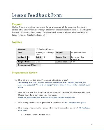 Pmmi Trainer  Customer Feedback Form