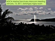 AGCA Marine Sanctuary Mancom Meeting January, 15 ... - RarePlanet