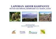 laporan akhir kampanye hutan geumpang, kompleks ... - RarePlanet