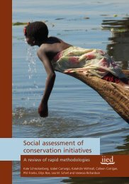 Social assessment of conservation initiatives - RarePlanet