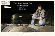 The Rare Wine Co. Newsletter   August 14, 2012
