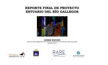 reporte final de proyecto estuario del río gallegos - RarePlanet