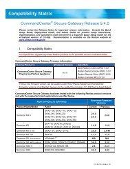CommandCenter Secure Gateway (CC-SG) - v5.4.0 - Raritan