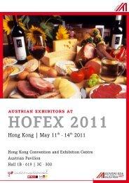 austrian exhibitors at hofex 2011 - Advantageaustria.org