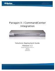 Paragon II / CommandCenter Integration - Raritan