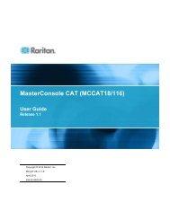 MasterConsole CAT (MCCAT18/116) - Raritan