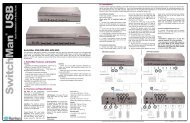 SwitchMan USB - Quick Setup Guide - Raritan
