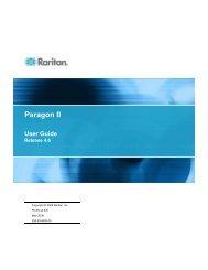 Paragon II - v4.6.0 User Guide - Raritan