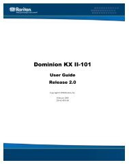 Dominion KX II-101 - 2.0.0 - User Guide - English - Raritan