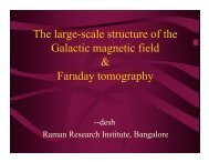 The large-scale structure of the Galactic magnetic field & Faraday ...