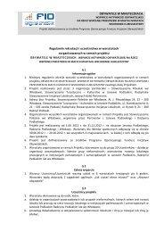 Regulamin - Radzyńskie Stowarzyszenie Inicjatyw Lokalnych