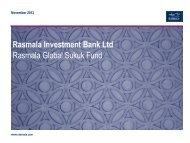 Rasmala Global Sukuk Fund Presentation - Rasmala Investment Bank