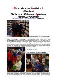 Mehr als eine Apotheke Februar 2011 - Rasmus Apotheke