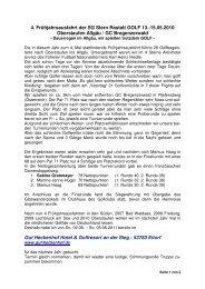Bericht 2010 - SG Stern Rastatt