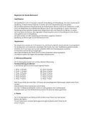 Reglement der Sparte Motorsport - SG Stern Rastatt
