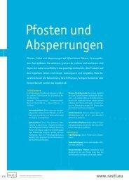 Pfosten und Absperrungen - Rasti.EU