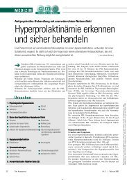 Hyperprolaktinämie erkennen und sicher behandeln