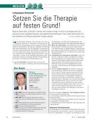 Setzen Sie die Therapie auf festen Grund! - ratgeber-fitness.de