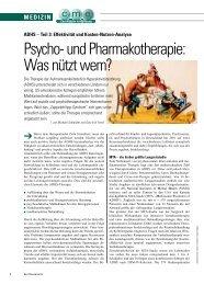 Psycho- und Pharmakotherapie: Was nützt wem? - ratgeber-fitness.de