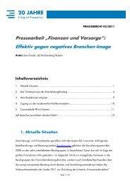 """Pressearbeit """"Finanzen und Vorsorge"""": Effektiv ... - RatGeberZentrale"""