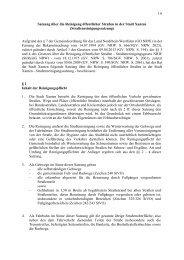 Satzung über die Reinigung öffentlicher Straßen in der Stadt Xanten