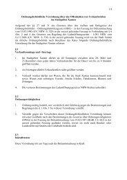 1.8 - Ordnungsbehördliche Verordnung über das Offenhalten von ...