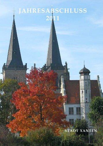 Jahresabschluss 2011 - im Rathaus der Stadt Xanten