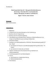 Beschlussprotokoll der ersten öffentlichen Beirätekonferenz am 3 ...
