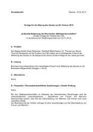 Kulturelle Bedeutung der Bremischen Städtepartnerschaften