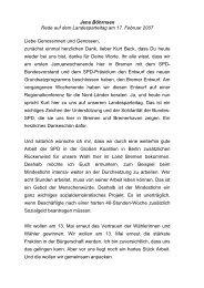 Rede Landesparteitag 17. Februar 2007 - Bremen