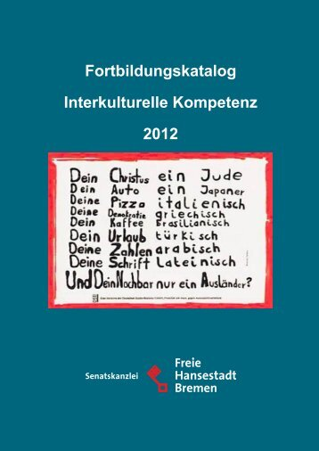 Fortbildungskatalog Interkulturelle Kompetenz 2012 - Senatskanzlei ...