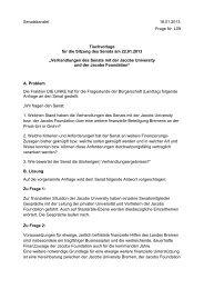 Tischvorlage vom 22.01.2013 Verhandlungen Senats JUB