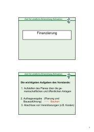 Finanzierung - Rathaus Pfronten