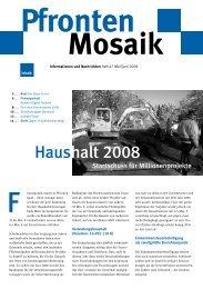 Haushalt 2008 - Rathaus Pfronten