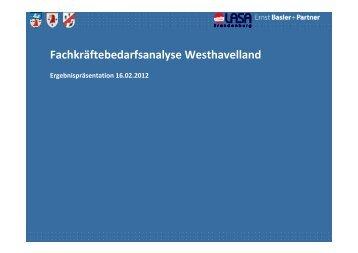 Ergebnispräsentation zur Fachkräftebedarfsanalyse Westhavelland
