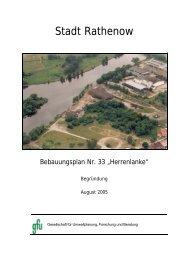 Begründung - Stadt Rathenow
